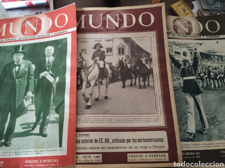 Coleccionismo de Revistas y Periódicos: 41 revistas mundo años 50-60 - Foto 2 - 283358768