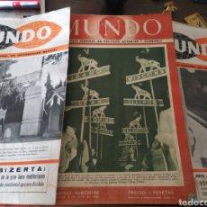 Coleccionismo de Revistas y Periódicos: 41 REVISTAS MUNDO AÑOS 50-60. Lote 283358768