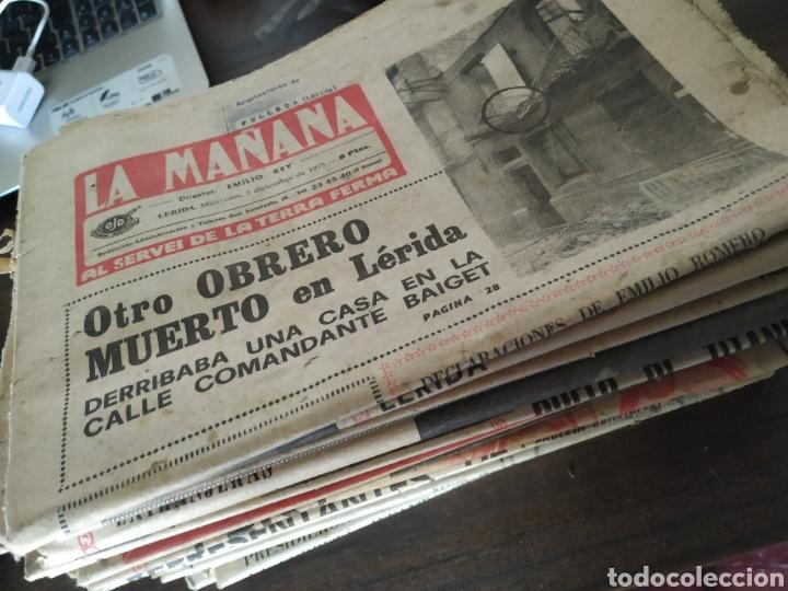 LOTE DE 30 PERIÓDICOS LA MAÑANA AÑOS 70 (Coleccionismo - Revistas y Periódicos Modernos (a partir de 1.940) - Otros)