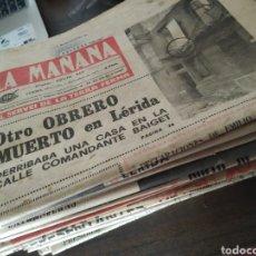 Coleccionismo de Revistas y Periódicos: LOTE DE 30 PERIÓDICOS LA MAÑANA AÑOS 70. Lote 283362823
