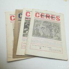 Coleccionismo de Revistas y Periódicos: LOTE DE 4 REVISTAS CERES. VALLADOLID. AÑOS 40. AGRICULTURA, ECONOMÍA. ORIGINALES. VER FOTOS. Lote 284081873