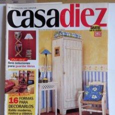 Coleccionismo de Revistas y Periódicos: REVISTA DE DECORACION / CASA DIEZ N° 2384 / N°6.-- 2 -- 5 -- 1997. Lote 284708093