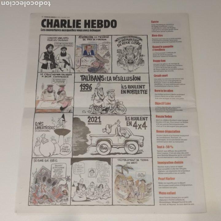 Coleccionismo de Revistas y Periódicos: Semanario satírico Charlie Hebdo 18 agosto 2021, portada MESSI. Talibanes, peor de lo que pensamos - Foto 2 - 285053213