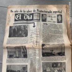 Coleccionismo de Revistas y Periódicos: EL DIA DIARIO BILINGUE PROTECTORADO ESPAÑOL DE MARRUECOS 1955 REY MOHAMED V. Lote 285752598