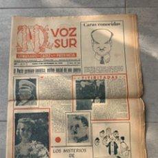 Coleccionismo de Revistas y Periódicos: 2 PERIODICOS LA VOZ DEL SUR SEMANARIO DE CADIZ 1949. Lote 285753778