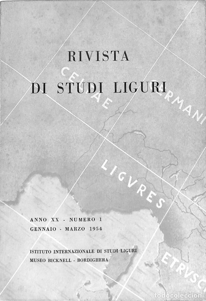 Coleccionismo de Revistas y Periódicos: Rivista di Studi Liguri Revista de Prehistoria. Edad Antigua. Arqueología - Foto 2 - 286460193