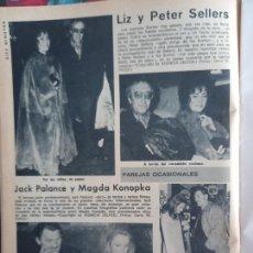 Collezionismo di Riviste e Giornali: ELIZABETH TAYLOR LIZ PETER SELLERS JACK PALANCE. Lote 286476483