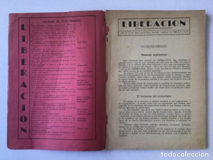 Coleccionismo de Revistas y Periódicos: LIBERACION. Revista centroamericana de vanguardia. Julio a diciembre de 1936. - [Revista.] - Foto 2 - 286608798