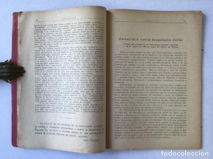 Coleccionismo de Revistas y Periódicos: LIBERACION. Revista centroamericana de vanguardia. Julio a diciembre de 1936. - [Revista.] - Foto 3 - 286608798