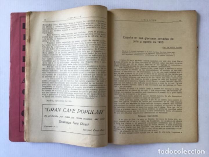 Coleccionismo de Revistas y Periódicos: LIBERACION. Revista centroamericana de vanguardia. Julio a diciembre de 1936. - [Revista.] - Foto 4 - 286608798