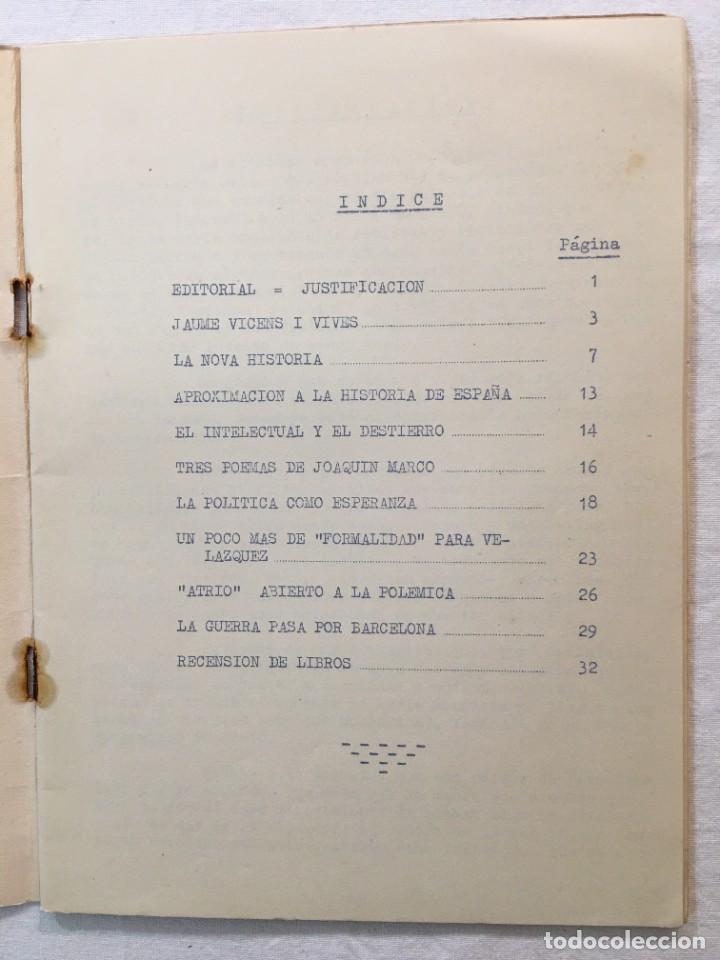 Coleccionismo de Revistas y Periódicos: Revista Atrio nº 4 y último. Filosofía y Letras. Barcelona, 1960. - Foto 2 - 286996488