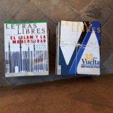 Coleccionismo de Revistas y Periódicos: LETRAS LIBRES ( REVISTAS LITERARIAS ). LOTE DE 62 REVISTAS DEL N°2 AL 101.. Lote 287082788