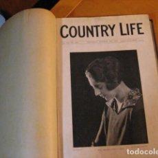 Coleccionismo de Revistas y Periódicos: TOMO REVISTA COUNTRY LIFE EN INGLES DE OCTUBRE 1926 A DICIEMBRE SEMANARIO INGLES DE SOCIEDAD. Lote 287097188