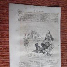 Collezionismo di Riviste e Giornali: 1862-GRABADO ORIGINAL.GUSTAVO DORÉ.MÚSICO AMBULANTE TOCANDO LA GUITARRA.DILIGENCIA.TEMBLEQUE? TOLEDO. Lote 287441298