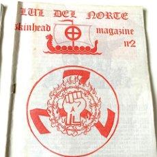 Coleccionismo de Revistas y Periódicos: ANTIGUA FANZINE COLECCIONISMO,SKINHEAD,LUZ DEL NORTE,BRIGADAS BLANQUIAZULES,BASES AUTONOMAS NR NS. Lote 287490963