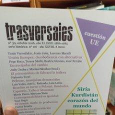 Coleccionismo de Revistas y Periódicos: REVISTA TRASVERSALES N.39. Lote 287540803