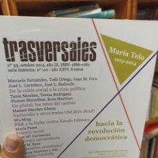 Coleccionismo de Revistas y Periódicos: REVISTA TRASVERSALES N.33. Lote 287540998