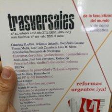 Coleccionismo de Revistas y Periódicos: REVISTA TRASVERSALES N. 45. Lote 287541403
