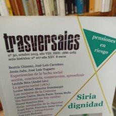 Coleccionismo de Revistas y Periódicos: REVISTA TRASVERSALES N. 30. Lote 287543518