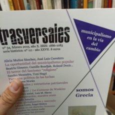 Coleccionismo de Revistas y Periódicos: REVISTA TRASVERSALES N. 34. Lote 287543588