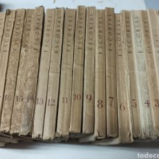 Coleccionismo de Revistas y Periódicos: ESCORIAL, REVISTA DE CULTURA Y LETRAS. 1940-1949. COLECCIÓN CASI COMPLETA, DE N° 1 A 64, FALTA N° 65. Lote 287553888