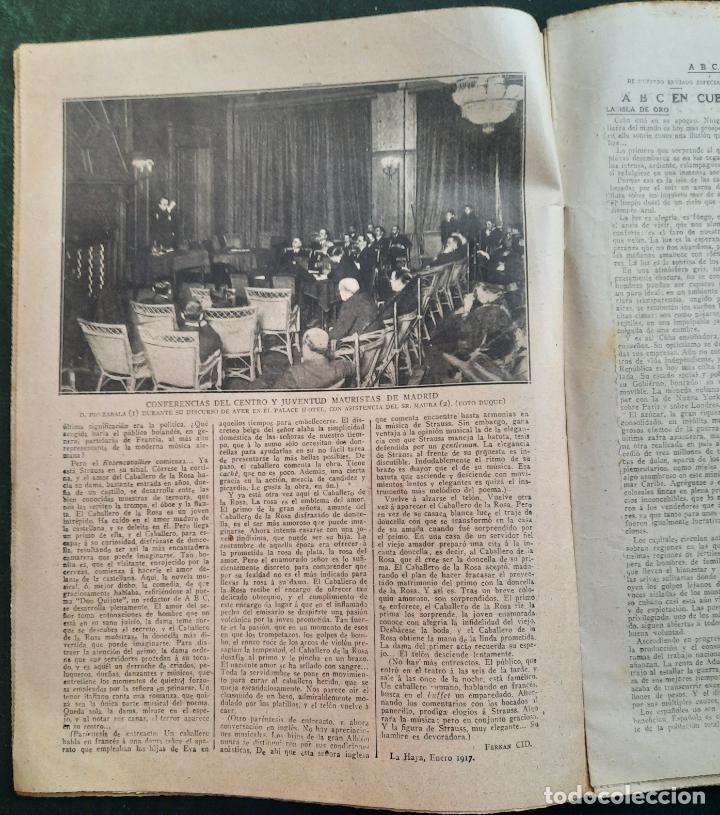 Coleccionismo de Revistas y Periódicos: ABC N⁰ 4247 06-FEBRERO 1917 - I GUERRA MUNDIAL (VER FOTOS). LA AVIACIÓN EN LA GUERRA. - Foto 4 - 287674338