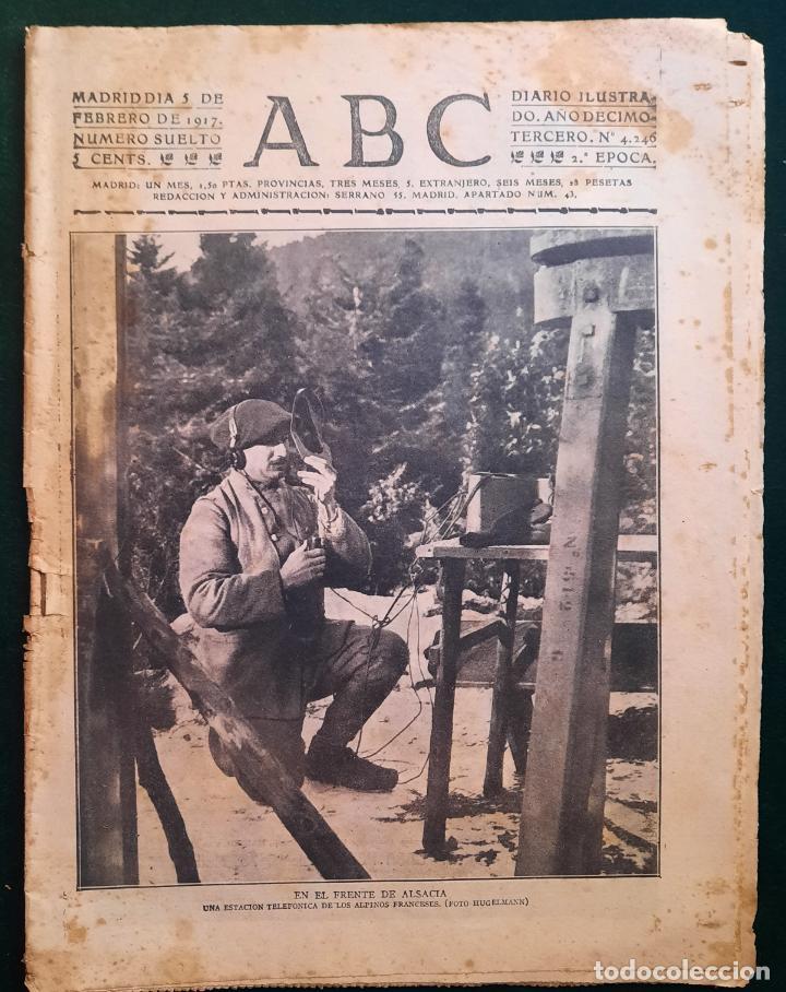 ABC N⁰ 4246 05-FEBRERO 1917 - I GUERRA MUNDIAL (VER FOTOS). EN EL FRENTE DE ALSACIA. (Coleccionismo - Revistas y Periódicos Antiguos (hasta 1.939))