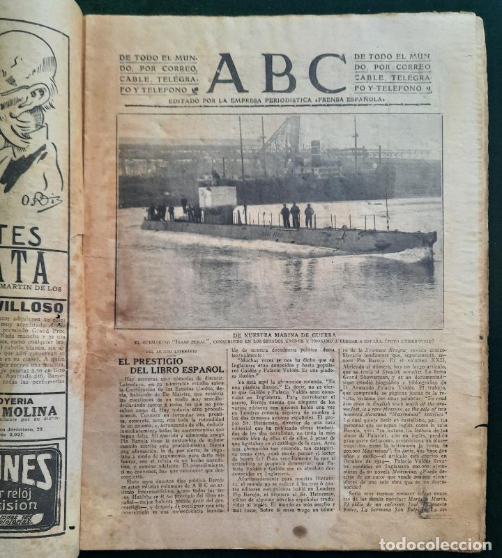 Coleccionismo de Revistas y Periódicos: ABC N⁰ 4245 04-FEBRERO 1917 - I GUERRA MUNDIAL (VER FOTOS). EL SUBMARINO ISAAC PERAL. - Foto 2 - 287675413