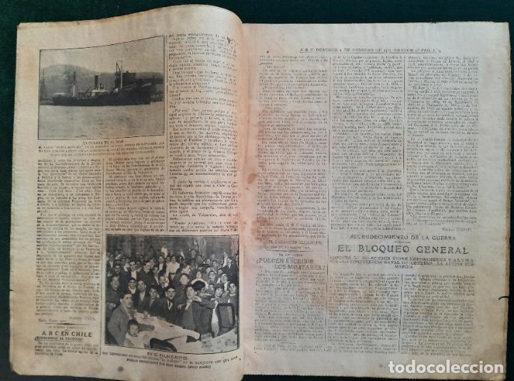 Coleccionismo de Revistas y Periódicos: ABC N⁰ 4245 04-FEBRERO 1917 - I GUERRA MUNDIAL (VER FOTOS). EL SUBMARINO ISAAC PERAL. - Foto 4 - 287675413