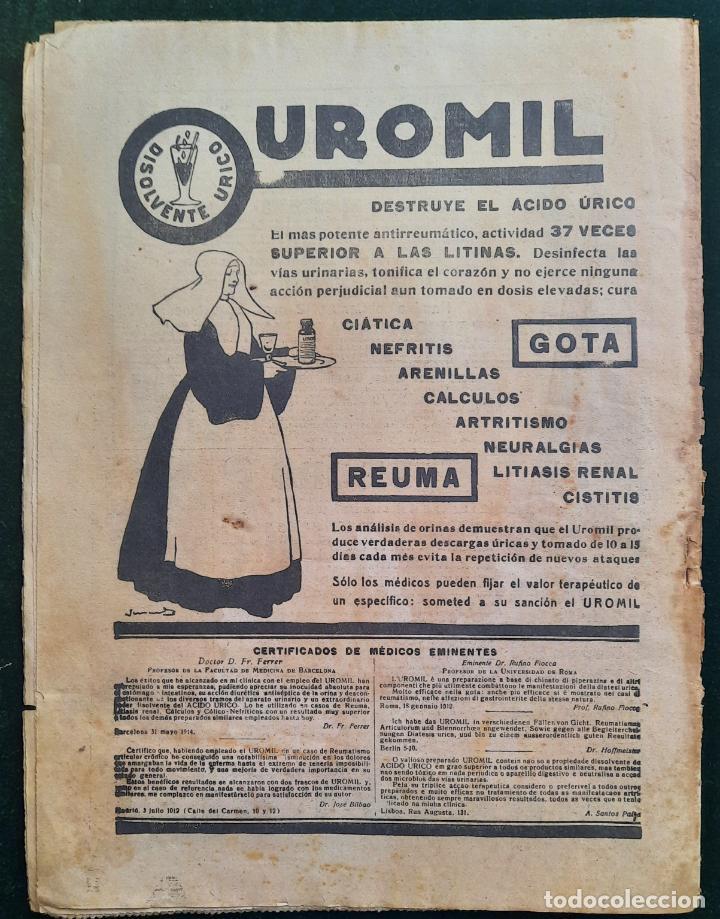 Coleccionismo de Revistas y Periódicos: ABC N⁰ 4245 04-FEBRERO 1917 - I GUERRA MUNDIAL (VER FOTOS). EL SUBMARINO ISAAC PERAL. - Foto 5 - 287675413