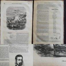 Coleccionismo de Revistas y Periódicos: SEMANARIO PINTORESCO ESPAÑOL: : Nº 37, 11 SEPTIEMBRE 1855. GRABADO DE MARSELLA / MARSEILLE. Lote 287723708
