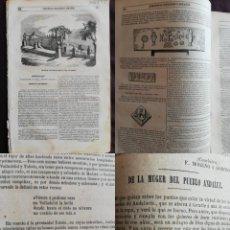 Coleccionismo de Revistas y Periódicos: SEMANARIO PINTORESCO ESPAÑOL: Nº38, 18 SEPTIEMBRE 1855. PALACIO DUQUES DE FRÍAS EN CADALSO VIDRIOS. Lote 287723943