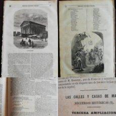 Coleccionismo de Revistas y Periódicos: SEMANARIO PINTORESCO ESPAÑOL: Nº39, 26 SEPTIEMBRE 1855. MADELEINE PARIS, CALLLES Y CASAS DE MADRID.. Lote 287724573