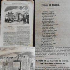 Coleccionismo de Revistas y Periódicos: SEMANARIO PINTORESCO ESPAÑOL: Nº40, 2 OCTUBRE 1855. PALACIO DE LOS DUQUES DE FRÍAS EN ESCALONA. Lote 287724878