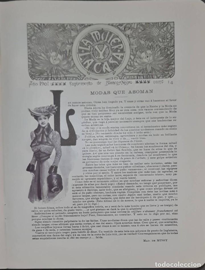 Coleccionismo de Revistas y Periódicos: Revista Blanco y Negro Nº 549. Madrid, 9 Noviembre 1901 - Foto 2 - 287783228