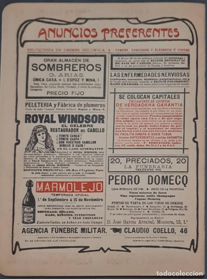 Coleccionismo de Revistas y Periódicos: Revista Blanco y Negro Nº 549. Madrid, 9 Noviembre 1901 - Foto 3 - 287783228