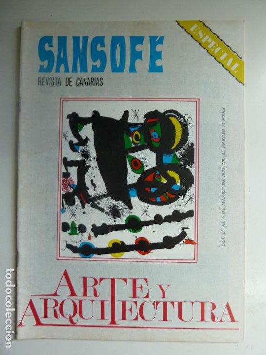 SANSOFE. REVISTA DE CANARIAS. NÚMERO ESPECIAL 106. MARZO 1972 (Coleccionismo - Revistas y Periódicos Modernos (a partir de 1.940) - Otros)