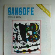 Coleccionismo de Revistas y Periódicos: SANSOFE. REVISTA DE CANARIAS. NÚMERO ESPECIAL 106. MARZO 1972. Lote 287875923