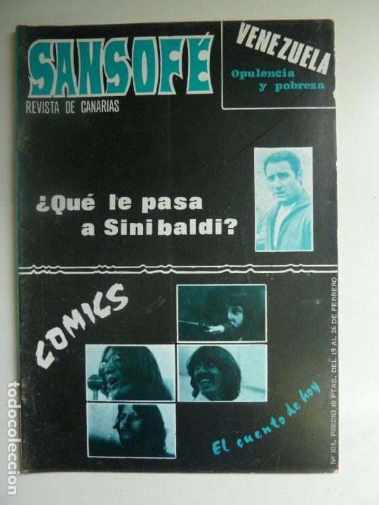 SANSOFE. REVISTA DE CANARIAS. Nº 105. FEBRERO 1972 (Coleccionismo - Revistas y Periódicos Modernos (a partir de 1.940) - Otros)