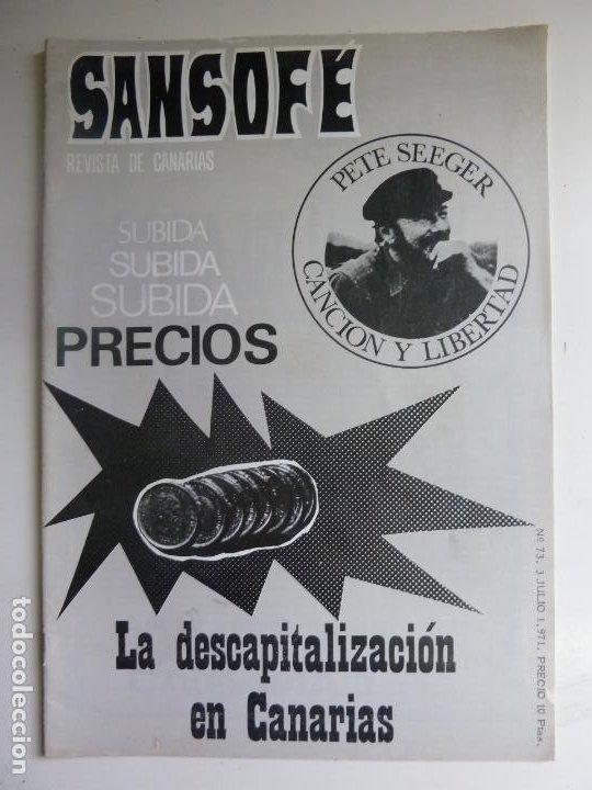 SANSOFE. REVISTA DE CANARIAS. Nº 73. JULIO 1971 (Coleccionismo - Revistas y Periódicos Modernos (a partir de 1.940) - Otros)