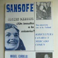 Coleccionismo de Revistas y Periódicos: SANSOFE. REVISTA DE CANARIAS. Nº 90. NOVIEMBRE 1971. Lote 287876398