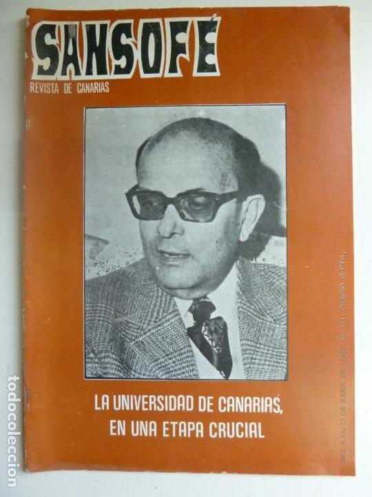 SANSOFE. REVISTA DE CANARIAS. Nº 111. ABRIL 1972 (Coleccionismo - Revistas y Periódicos Modernos (a partir de 1.940) - Otros)
