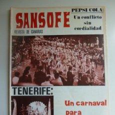 Coleccionismo de Revistas y Periódicos: SANSOFE. REVISTA DE CANARIAS. Nº 104. FEBRERO 1972. Lote 287876608