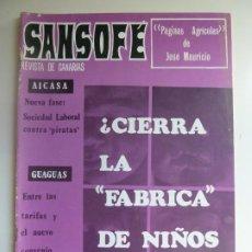 Coleccionismo de Revistas y Periódicos: SANSOFE. REVISTA DE CANARIAS. Nº 85. OCTUBRE 1971. Lote 287876733