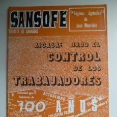 Coleccionismo de Revistas y Periódicos: SANSOFE. REVISTA DE CANARIAS. Nº 84. SEPTIEMBRE 1971. Lote 287877473