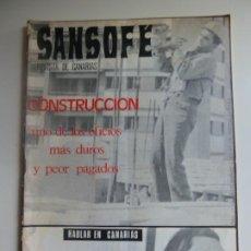Coleccionismo de Revistas y Periódicos: SANSOFE. REVISTA DE CANARIAS. Nº 108. MARZO 1972. Lote 287878013