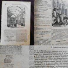 Coleccionismo de Revistas y Periódicos: SEMANARIO PINTORESCO ESPAÑOL: Nº41, 9 OCTUBRE 1855. SALÓN DE PASOS PERDIDOS PALACIO JUSTICIA PARÍS. Lote 287884023