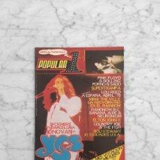 Coleccionismo de Revistas y Periódicos: POPULAR 1 - 1977 - SUPERTRAMP. PORNO-ROCK, MINK DEVILLE, YES, ROD STEWART, RAMONCIN, NEURONIUM. Lote 287905353