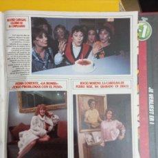 Coleccionismo de Revistas y Periódicos: FEDRA LORENTE LA BOMBI UN DOS TRES 1 2 3 ROCIO MORENO BEATRIZ CARVAJAL. Lote 287905423