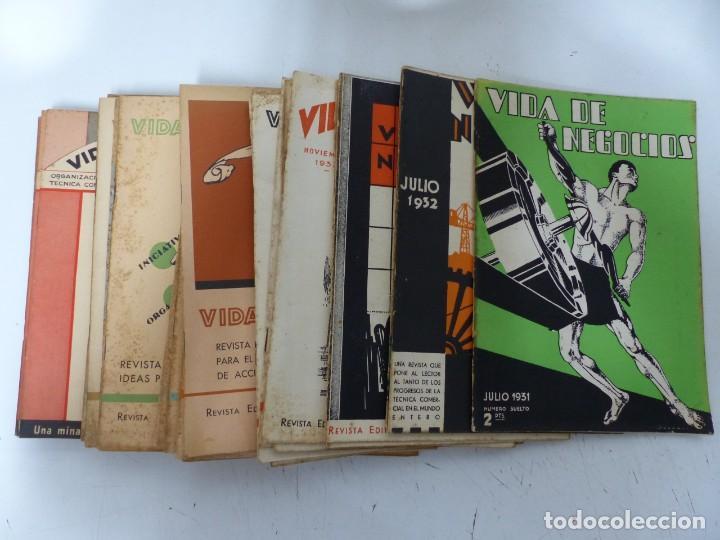 VIDA DE NEGOCIOS, 28 REVISTAS - AÑOS 1931-1936 - VER FOTOS ADICIONALES (Coleccionismo - Revistas y Periódicos Antiguos (hasta 1.939))